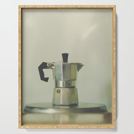 Italian moka pot. Serving Tray