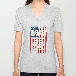 American Welders Welder Definition USA America Flag Welding Metal Melting Solderer Unisex V-Neck
