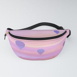 hot air balloons ethereal aesthetic lavender altered photography Fanny Pack