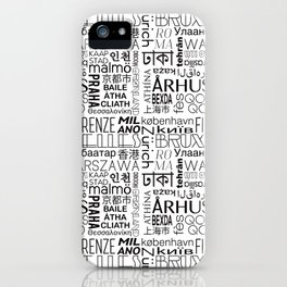 Text and the City - Black + White iPhone Case
