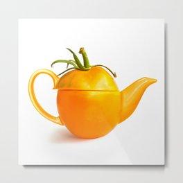 Concept yellow tomato teapot Metal Print