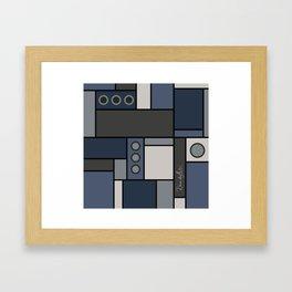 Blocked in Steely Blue Framed Art Print
