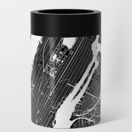 New York City Black And White Map Can Cooler