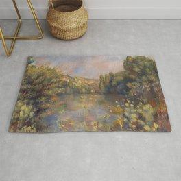 Lakeside Landscape by Renoir Rug