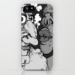 Napkins (Grey) iPhone Case