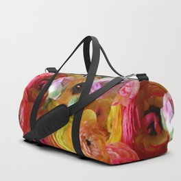 Bunch of Ranunculus Flowers Duffle Bag