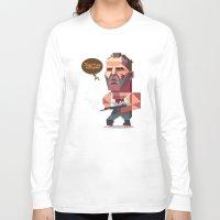 die hard Long Sleeve T-shirts featuring John McClane - Die Hard by Robin Gundersen
