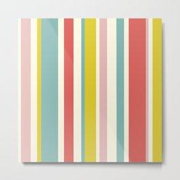 Candy Stripe Pattern Metal Print