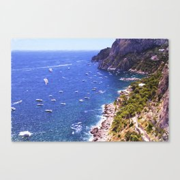 Mediterranean Of Boats Canvas Print
