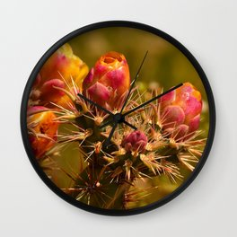 Cacti in Bloom - II Wall Clock