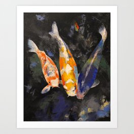 Three Koi Fish Art Print