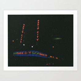 Radio City Music Hall, New York Art Print