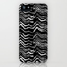 Dark Glitch Abstract Pattern iPhone Case