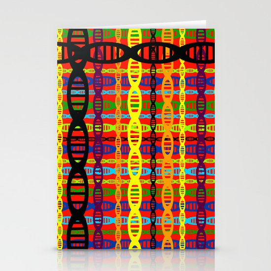 DNA Plaid Stationery Cards