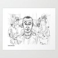 dentist Art Prints featuring At the Dentist by Jonas Ericson