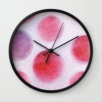 cycle Wall Clocks featuring cycle by Claudia Drossert