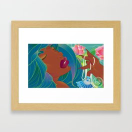 Bejeweled Lotus Framed Art Print