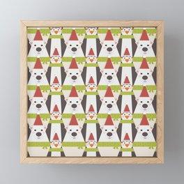 Penguins & Polar Bears (Patterns Please) Framed Mini Art Print