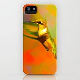 End of Summer Hummingbird iPhone Case