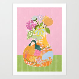 Colourful Garden Art Print