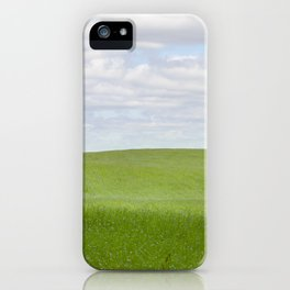 field with flax iPhone Case