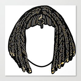 Hairstyle for women in the Ancient Egypt Canvas Print