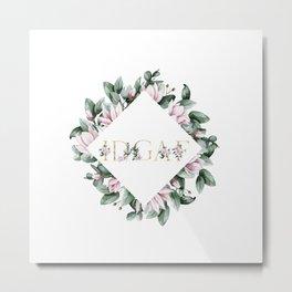 IDGAF pink flowers Metal Print