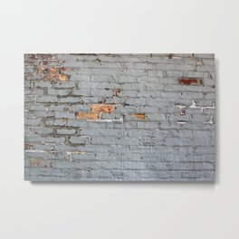 Brick Wall Texture Metal Print