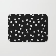 White Dots Bath Mat
