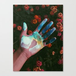 Painting Hand Canvas Print