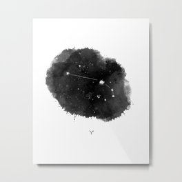 Aries Zodiac Sign, stars Metal Print