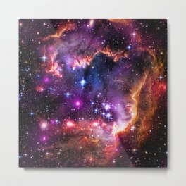 Small Magellanic Cloud's Starry Wingtip Metal Print