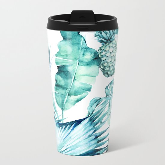 Bahamas - aquamarine Metal Travel Mug