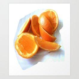 Orange Quarters Art Print