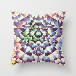 Cyans of the Five Throw Pillow