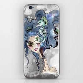 the deep girl-1 iPhone Skin