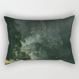 James Abbott McNeill Whistler - Nocturne in Black and Gold Rectangular Pillow