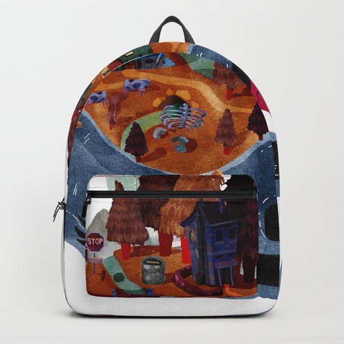 falling village Backpack