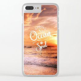 The Voice of the Ocean Clear iPhone Case