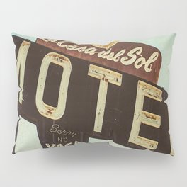 La Casa Del Sol Vintage Motel Sign Pillow Sham