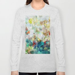 Spring Abstract Painting Long Sleeve T-shirt