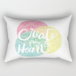 Create From the Heart Rectangular Pillow