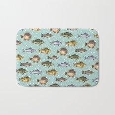 Watercolor Fish Bath Mat