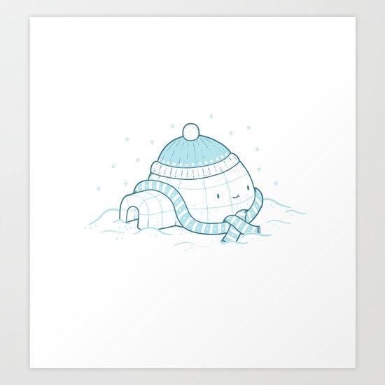 Igloo Art Print