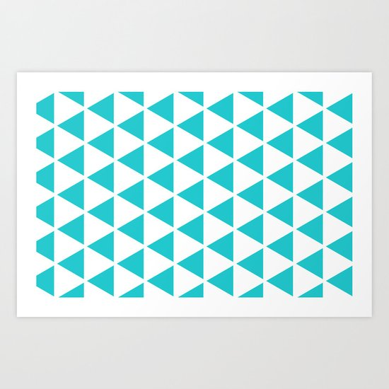 Sleyer Blue on White Pattern Art Print