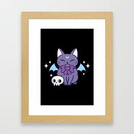 Black Bat Kitten 03 Framed Art Print