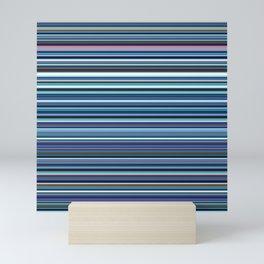 Old Skool Stripes - Blues - Horizontal Mini Art Print