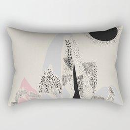 Dusty Mountain Rectangular Pillow