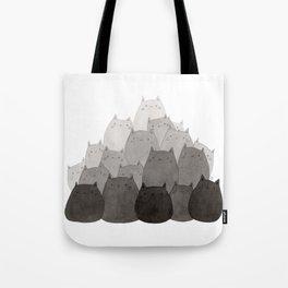 Kitty Pile Tote Bag