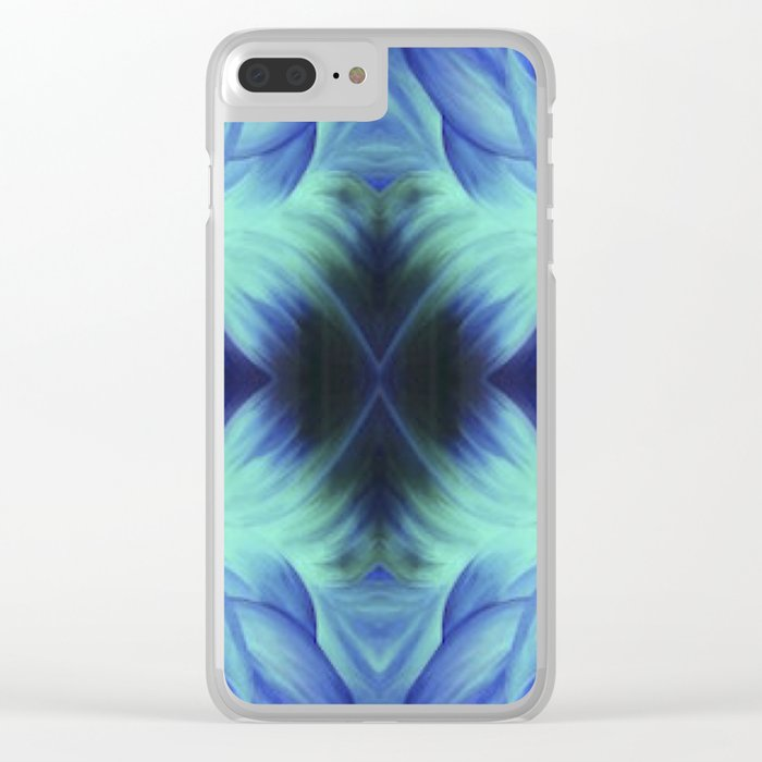 Trippy Flower Clear iPhone Case